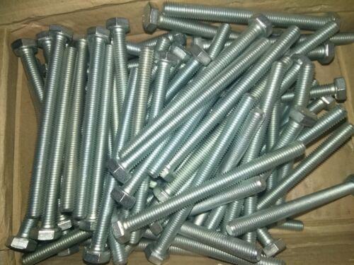 10 unid braguitas hexagonal-tornillos m8x100 8.8 lleno de rosca acero galvanizada 8x100 din 933