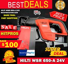 Hilti Wsr 650 A 24v Reciprocating Saw Bare Tool Fast Shipping