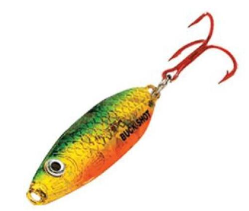 Northland Tackle BRS2-23 Buck Shot Rattle Spoon Golden Perch Ice Lure 1//16 oz