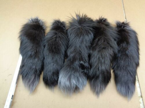 #1 XXL Tanned Dyed Silver Fox Tails//Crafts//Real USA Tail//Harley//Purse attachment
