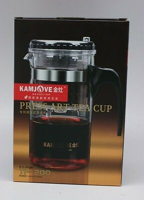 Kamjove TP-200*Glass Tea Pot* Large Gongfu Art Tea Cup-1000ml