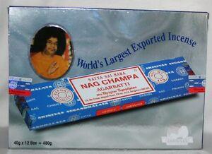 Satya-Sai-Baba-NAG-CHAMPA-Agarbatti-Incense-12-40-Gram-Boxes-480-Grams