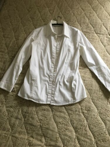 4 White 12 Shirt Farhi Nicole Cotton Uk Sleeves 3 10 1BHgnwq