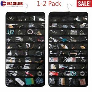 Jewelry Organizer 80 Pockets Hanging Closet Storage Ring Earring Bracelet Holder