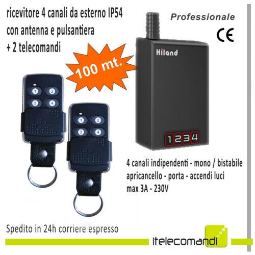 ricevitore 4 canali da esterno universale 3A 433Mhz rolling Kit telecomandi