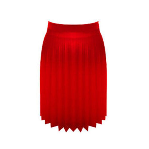 "New Women 18/"" All Around Pleated Leather Look Girls Skirt Pu"