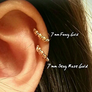 Cartilage earring 14k gold filled tiny nose ring hoops gold tragus