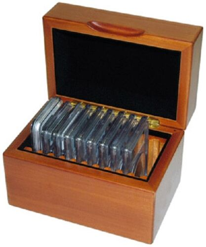 Certified Coins Box Oak Wood 10 Graded Slabs PCGS NGC IGC Case Free US Shipping