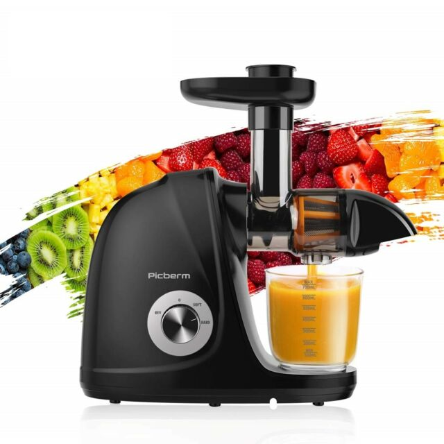 Juicer Machine Juice Making Cold Press Fresh Fruit Slow Masticating Silent Motor