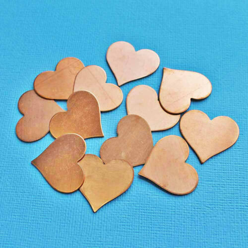 MT280 6 Copper Stamping Tags 25mm or 1 Inch