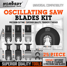 25pcs Oscillating Saw Blades Kit Metal Wood Quick Release Multitool Universal