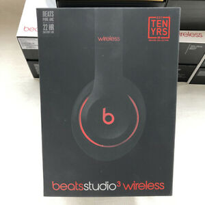 Beats By Dr Dre Studio3 Wireless Over Ear Headphones Black Red Ebay