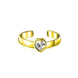 14K-Solid-Yellow-Gold-Heart-CZ-Toe-Ring-Body-Art