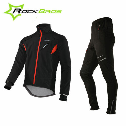 ROCKBROS Winter Cycling Thermal Warm Windproof Suits Cycling Jacket & Pants New