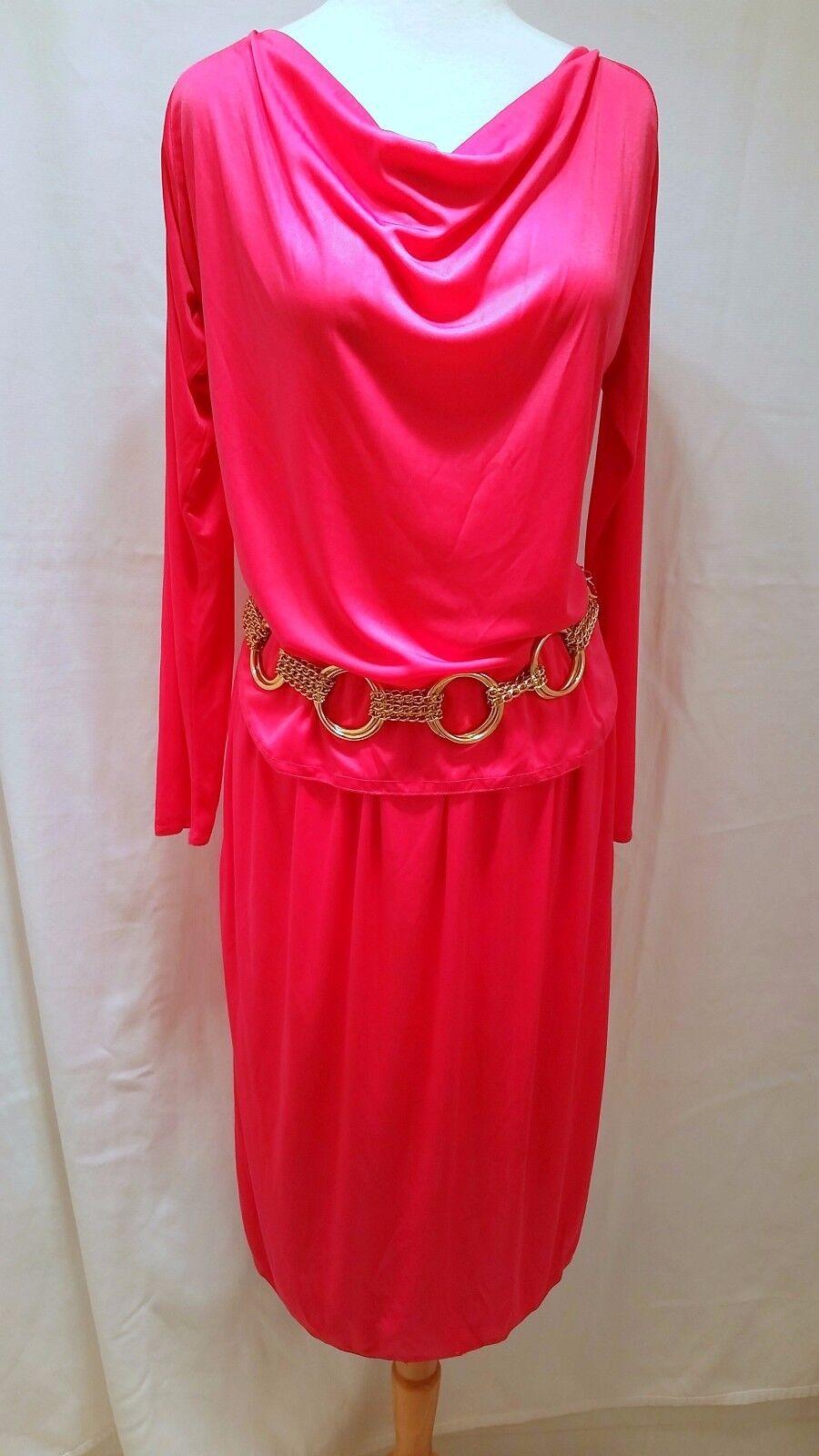 Rare Vintage 1970's Diane von Furstenberg DVF Rosa Dress set - Union Label sz 10