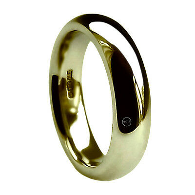 8mm 9ct Yellow Gold Court Comfort Wedding Rings Uk Hm 375 Extra Heavy Band New Neueste Technik