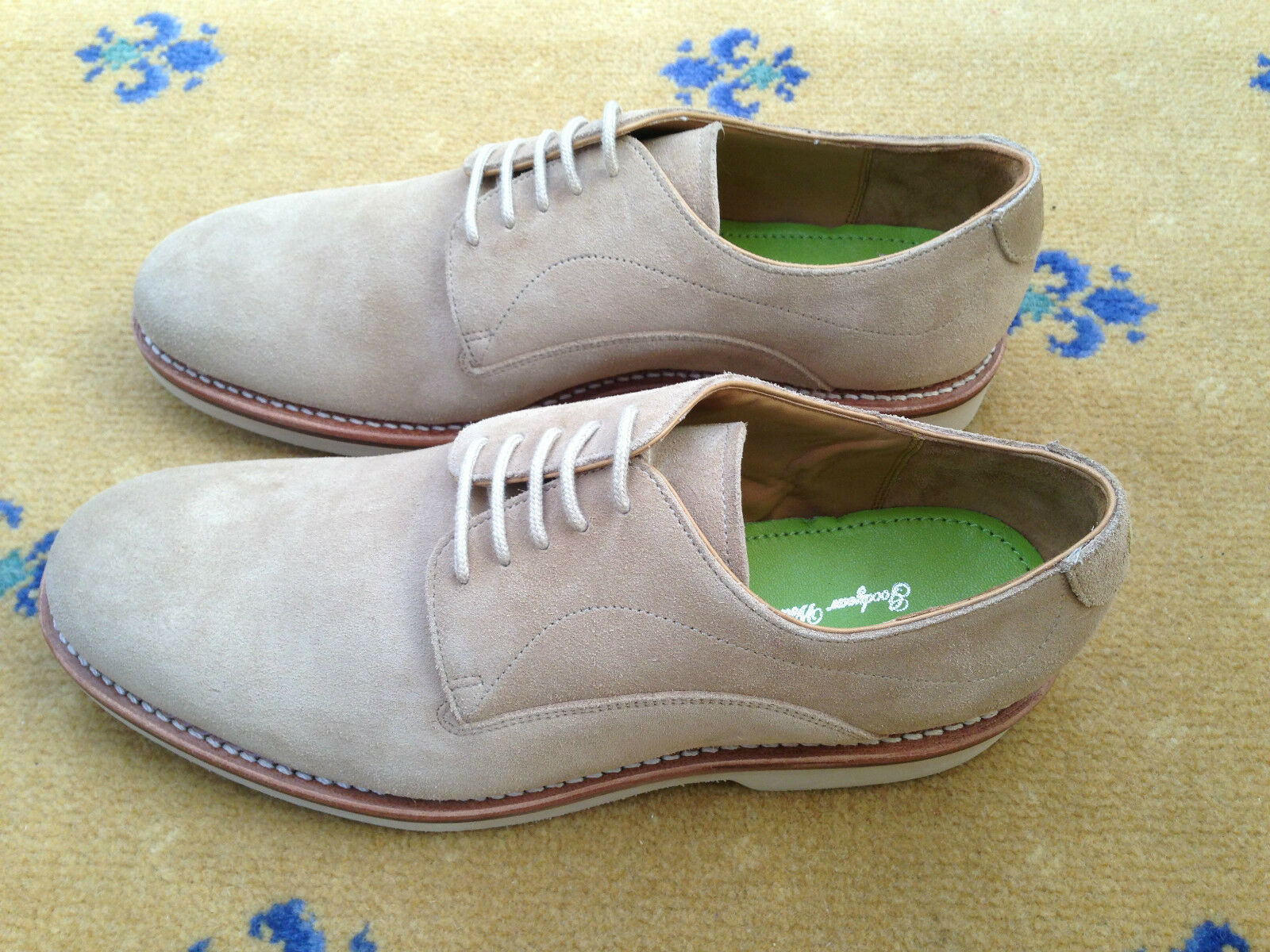 NEW OLIVER SWEENEY  Herren Schuhe BEIGE TAN SUEDE UP LACE UP SUEDE OXFORDS UK 7.5   8.5 41.5 95f091