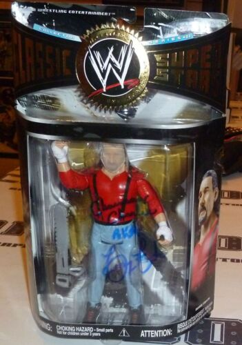 Terry Funk Signed WWE Classic Superstars Figure PSA//DNA COA Chainsaw Charlie WWF