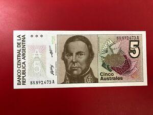 America-Argentina-5-Australes-1985-89-UNC-Fds-P-324c