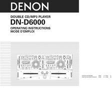 Denon dnd-6000 cd player on demand pdf download | english.
