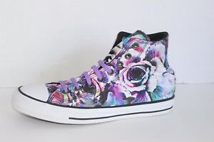 b04a51cc92bf Converse All Star Floral Print Satin Hi Top Unisex Shoes Men Size ...