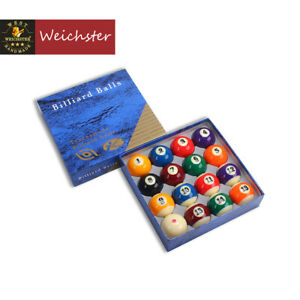 """Billiard Pool Ball Tournament Quality Full Size Number Ball Set 2-1/4""""or 2-1/16"""""""