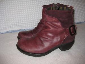 Boots ~ Stiefeletten ~ 38  ~   FLY London ~  bei Conleys  ~ Echtleder weinrot ~