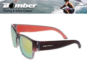 1ba0e5f9cd9 Bomber Floating GOMER Sunglasses Crystal Red w  Red Mirror Lens Mens ...