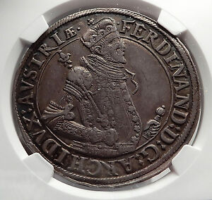 1564-1595AD-ARCHDUKE-Ferdinand-II-Silver-Taler-of-Austria-Large-Coin-NGC-i58183