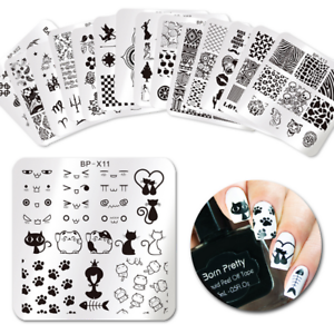 born pretty platz nagel stempel schablone spitze blume tier nail art vorlagen ebay. Black Bedroom Furniture Sets. Home Design Ideas