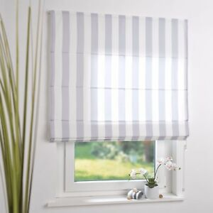 raffrollo raffvorhang rollo seitenzugrollo streifen grau. Black Bedroom Furniture Sets. Home Design Ideas