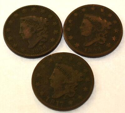 6 Slabs Coin World Premier Holders 27.5mm Coronet Large Cents 1837-1857 2 Packs