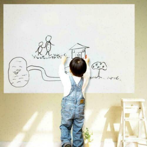 PVC Dry Erase Writing Message Paper Whiteboard Stick 20 Sti Board Wall S4K7 E6A6