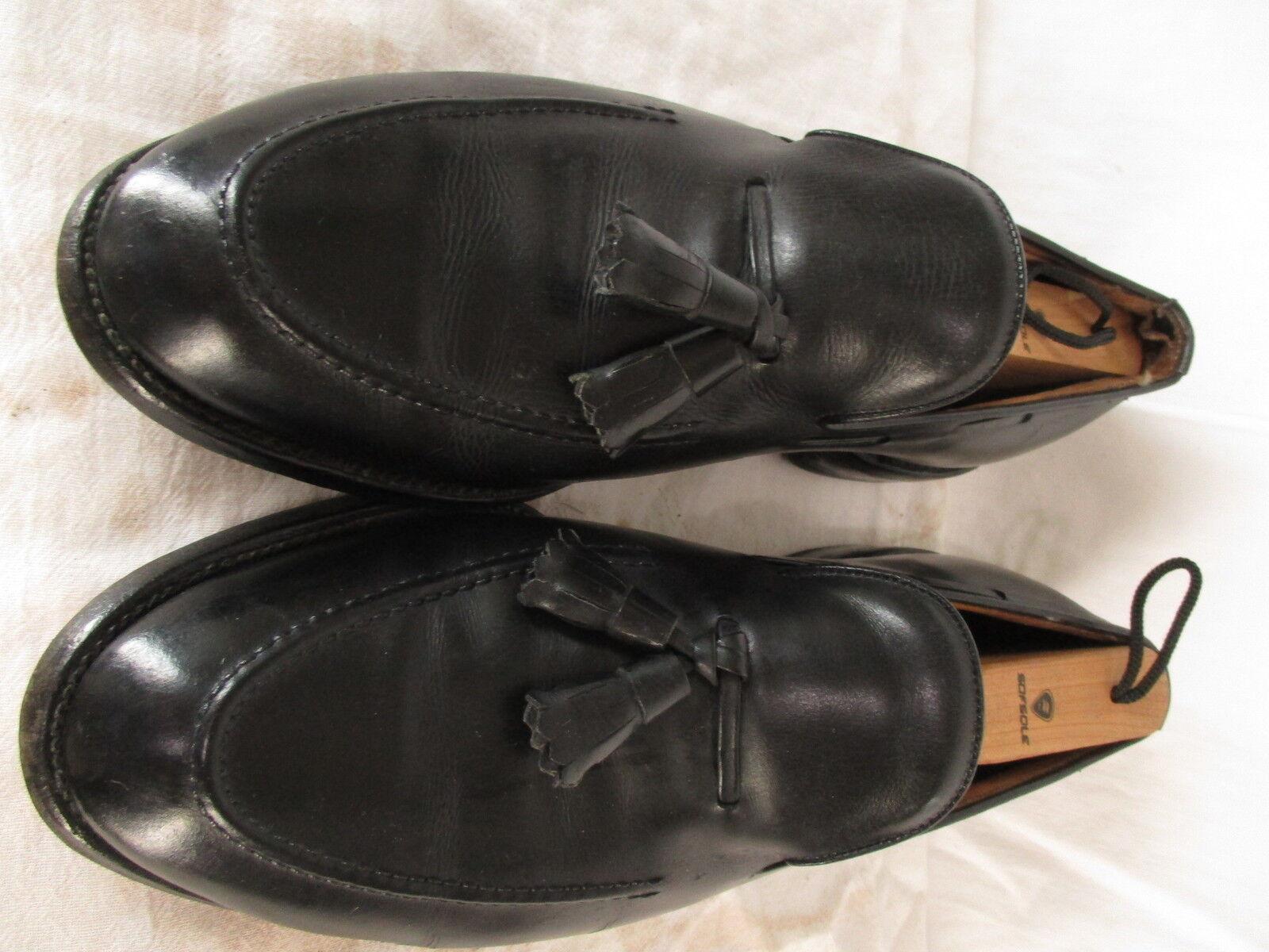 Allen Edmonds Sanford Mens Black Tassel Loafers 9D
