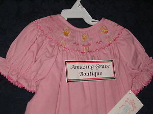 Girls-smocked-Bishop-BALLET-3T-dress-NEW-Ballerina-Dancer-Pink-Vive-La-Fete