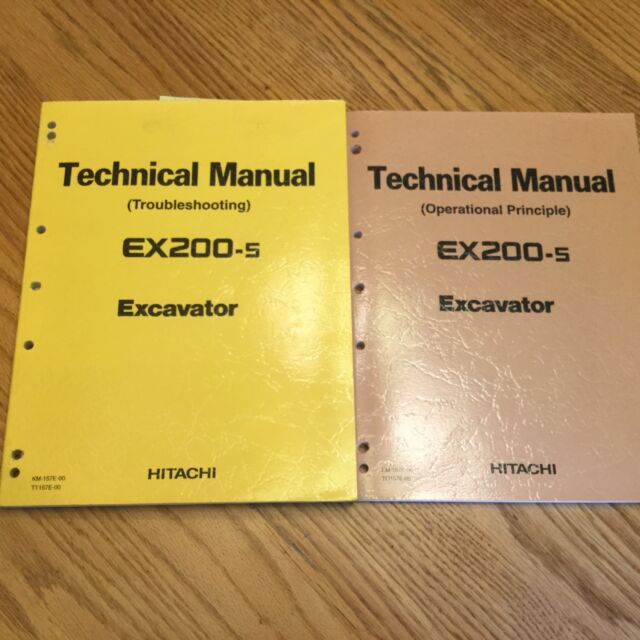 hitachi ex200 5 technical service manual excavator troubleshooting rh ebay com