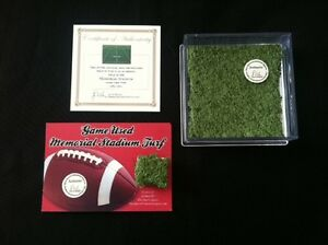 NEBRASKA-CORNHUSKERS-GAME-USED-Turf-Memorial-Stadium-Tom-Osborne-Great-Gift
