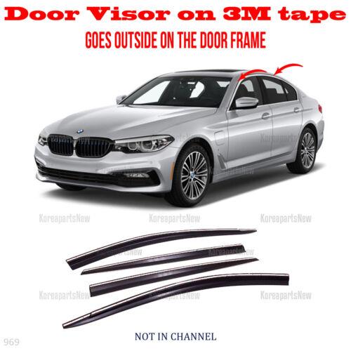 3M Tape Smoke Door Window Vent Visor Deflector 4 DR fits 2017-2019 BMW 5 Series
