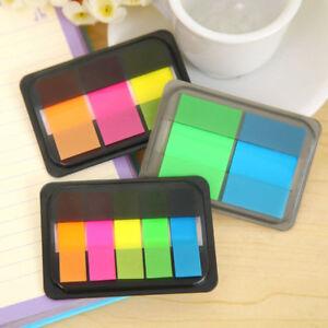1-Box-Fluorescen-transparent-Sticker-Bookmark-Marker-Memo-Flags-Tab-Sticky-Notes