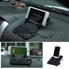 1 for Phone pad Non-Slip Holder Dashboard Stand USB Mount Charger Cradle