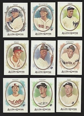 2015 TOPPS ALLEN /& GINTER #/'s 250-350 w// HIGH # SP/'s /& ALL INSERTS U PICK!!