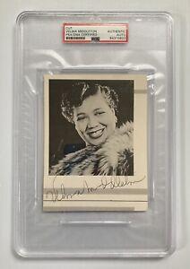 Jazz Singer Velma Middleton Signed Autograph 4x5 Cut Signature - PSA - FREE S&H!