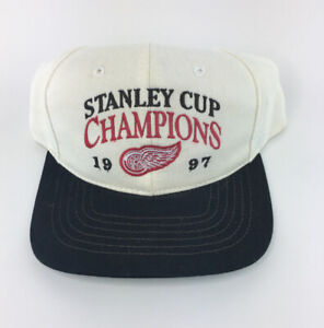 Detroit-Red-Wings-1997-NHL-Stanley-Cup-Champions-Adjustable-Snapback-Cap-Hat