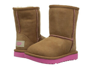 c410161a4bd NEW UGG BOOTS INFANT TODDLER CLASSIC II CHESTNUT PINK AZALEA ...