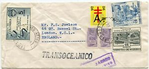 COLOMBIA-TRANSOCEANICO-AIRMAIL-1954-to-GB