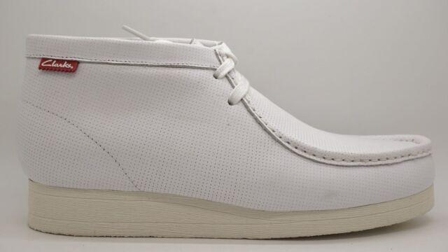 Clarks Stinson Hi Men's White Leather Wallabee Style Boots 26116761