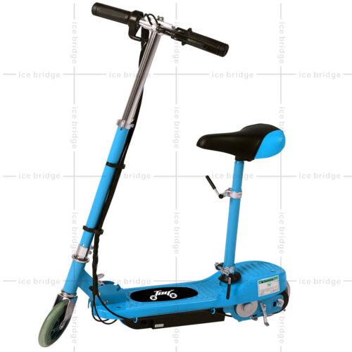KIDS ELECTRIC E SCOOTER 120W 24V RIDE ON CARS BLEBATTERY OUTDOOR TOY ADJUSTABLE