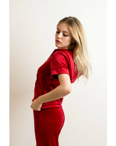 Lady Velour Short Sleeves Tracksuits Hood /& Jogging Pants Holiday yoga relax