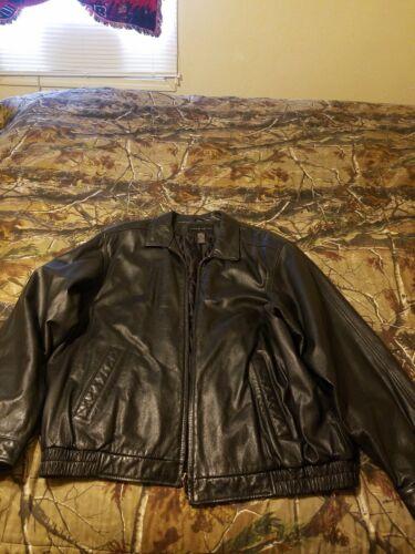 Mens Black Leather Jacket croft & burrows XLT