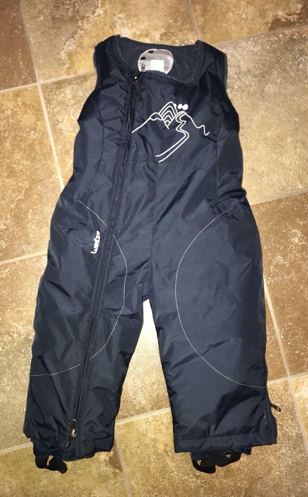 WED'ZE OXYLANE Navy bluee SNOW BIBS Ski One Piece Jumpsuit Board Pants Size 2